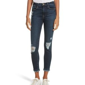 Frame | Le High Skinny Distressed Jeans Montclair